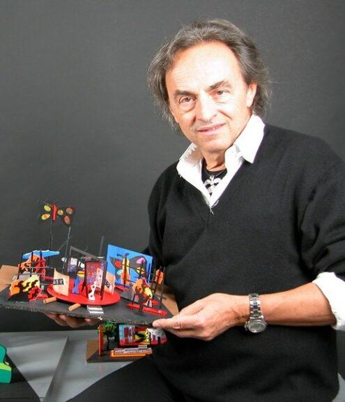"""Ugo Nespolo ad Asti per la presentazione del libro """"Per non morire d'arte"""""""